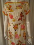 1950's Vintage silk satin twill butterfly dress by Scuderi of Italy ***SOLD** es